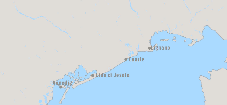 Karte Lignano