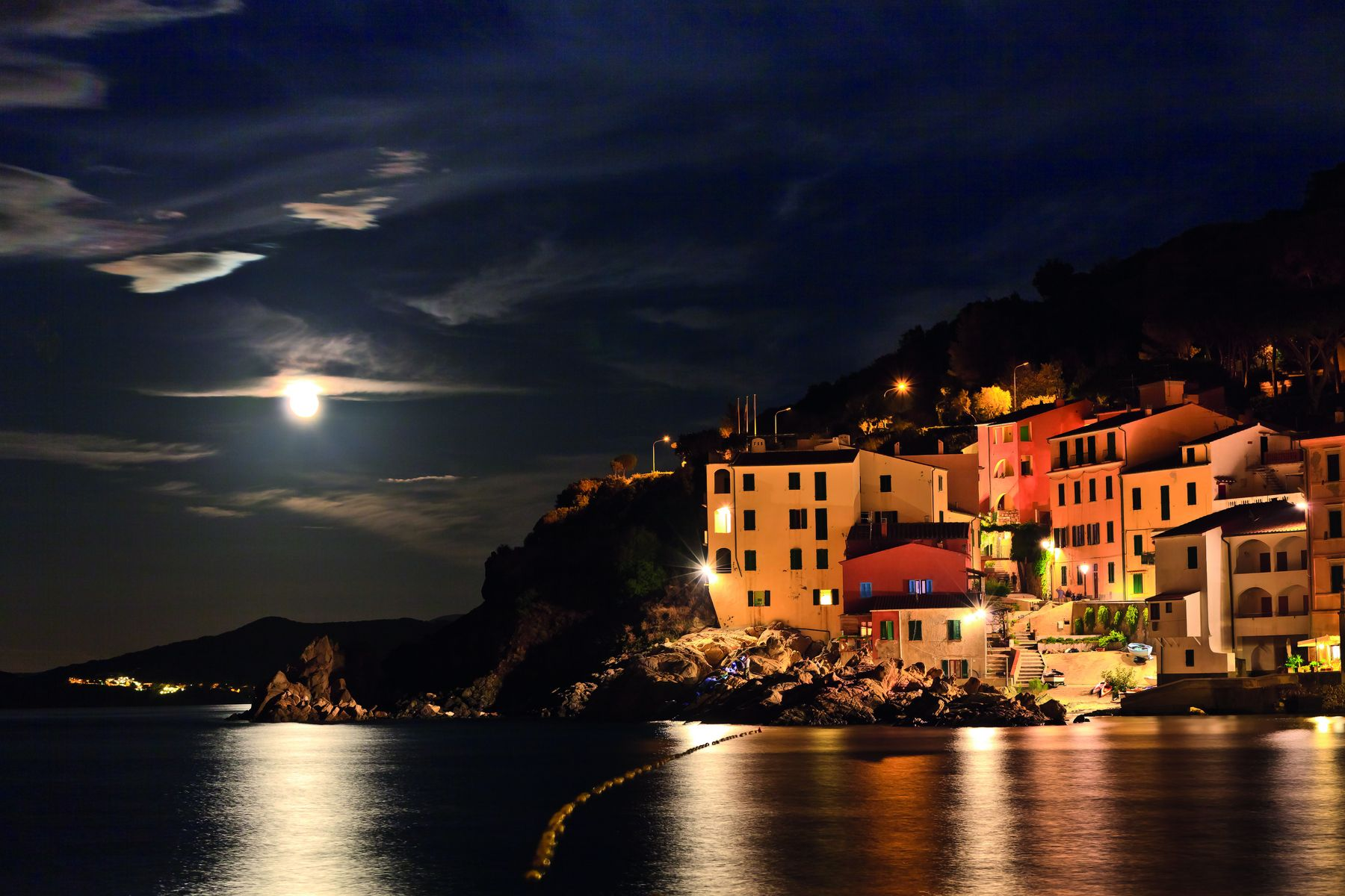 View of Marciana Marina in night 178790323 5530x3687